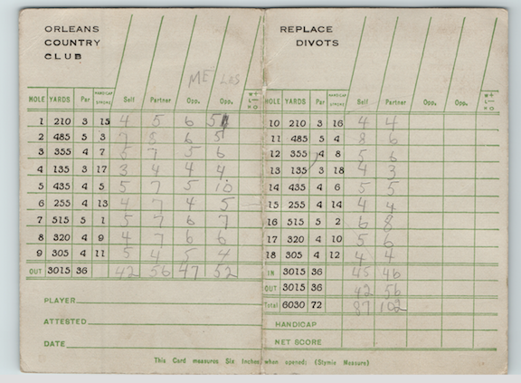 Antique Scorecard 2